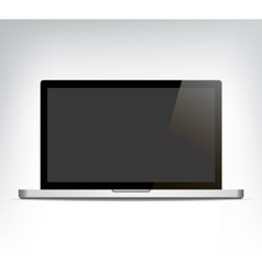 realistic opened laptop personal computer vector image vector image