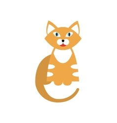 Red tiger cat breed primitive cartoon vector