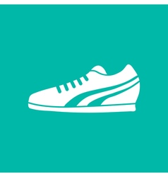 Running Shoe Icon on Background vector image