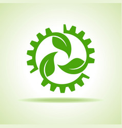 Save nature and go green concept with eco gear vector