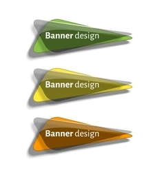Set of realistic abstract banners with glass vector image vector image