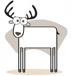 square animal deer vector image vector image