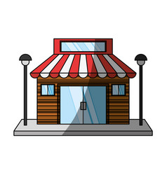 Store retail building vector