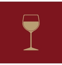 The wineglass icon goblet symbol flat vector