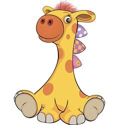 Toy giraffe cartoon vector image vector image