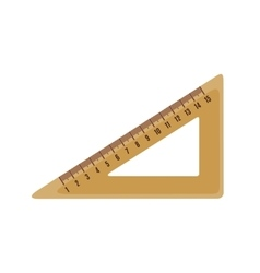 Triangle ruler icon in flat style vector image