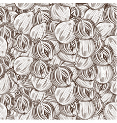 vintage onion seamless pattern vector image vector image