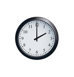wall clock set at 2 o clock vector image vector image