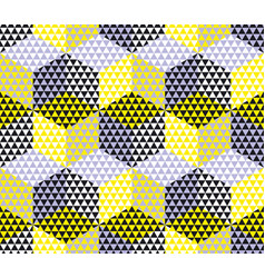 Yellow and gray geometry hexagon seamless fabric vector