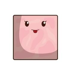 Ham breakfast food menu icon vector