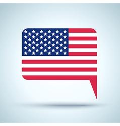 flag USA 2016 vector image