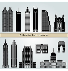 Atlanta landmarks and monuments vector image