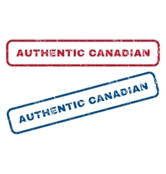Authentic canadian rubber stamps vector