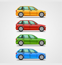 Car color set art vector