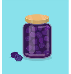 blackberry jam vector image