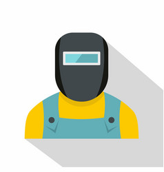 welder icon flat style vector image