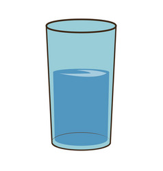 Water glass cup fresh health vector