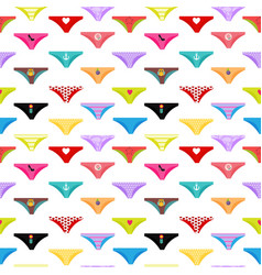 Multicolored briefs pants collection seamless vector
