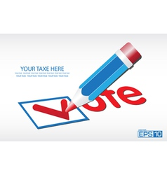 Ballot vote background vector