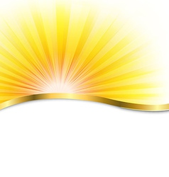 Sun poster with beams vector