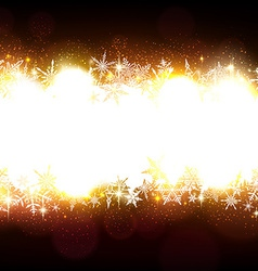 Brown christmas background with white copyspace vector