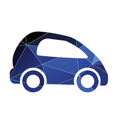 Mini car icon abstract triangle vector