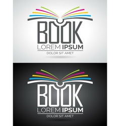 Book logo icon template for education or company vector