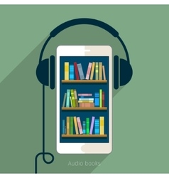 Concept of audio book vector