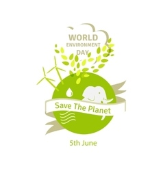 Earth globe green leaves and alternative energy vector