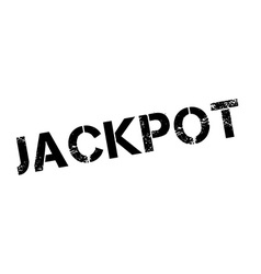 Jackpot black rubber stamp on white vector