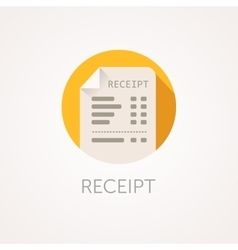 Receipt icon the bill with total cost vector