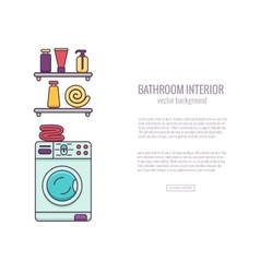 Bathroom-end bath equipment colorful concept vector