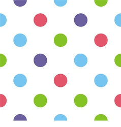Big colorful polka dots white background pattern vector image vector image