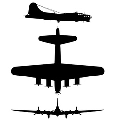 Boeing b17 flying fortress vector image
