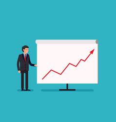business man holding whiteboard - presentation vector image vector image
