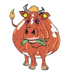 Cartoon image of cow vector