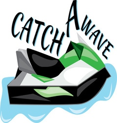 Catch A Wave vector image vector image