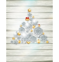 Christmas template with paper cutout EPS 10 vector image
