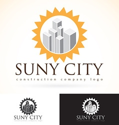 Construction development building company logo vector