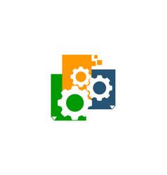 digital paper gear vector image vector image
