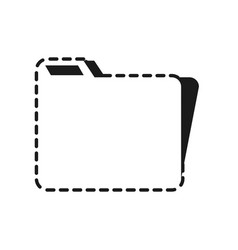 document folder icon vector image vector image