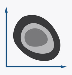 Flat icon on stylish background graph vector