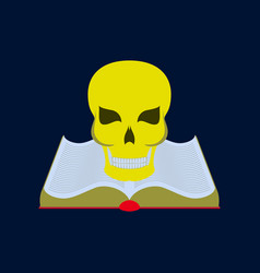 flat on background of book skull vector image vector image