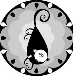 funny Chinese horoscope monkey vector image