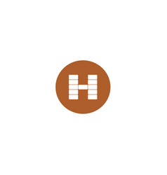 h brick logo design vector image