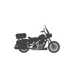Harley davidson american style motorcycle vector