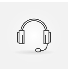 Headphone icon or logo vector image