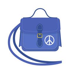 Journey suitcase travel handbag vector