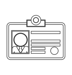 Office id icon vector