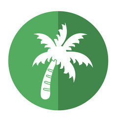Palm tree beach symbol shadow vector